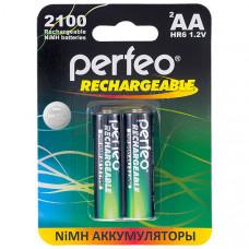 Аккумуляторные батарейки Perfeo AA 2100 mAh (2 шт)