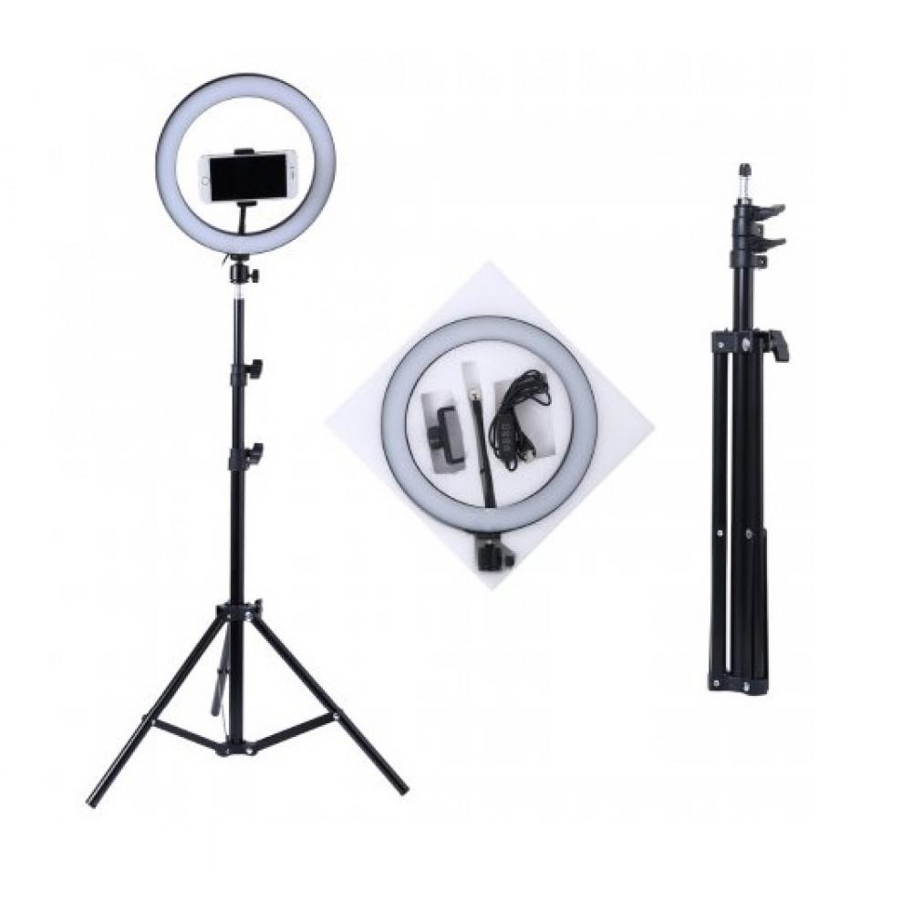 Кольцевая светодиодная лампа 26 см со штативом