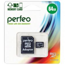 Карта памяти Perfeo MicroSDXC 64 ГБ